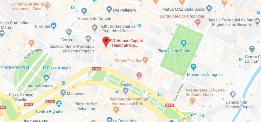 Mapa GD Human Capital Zaragoza